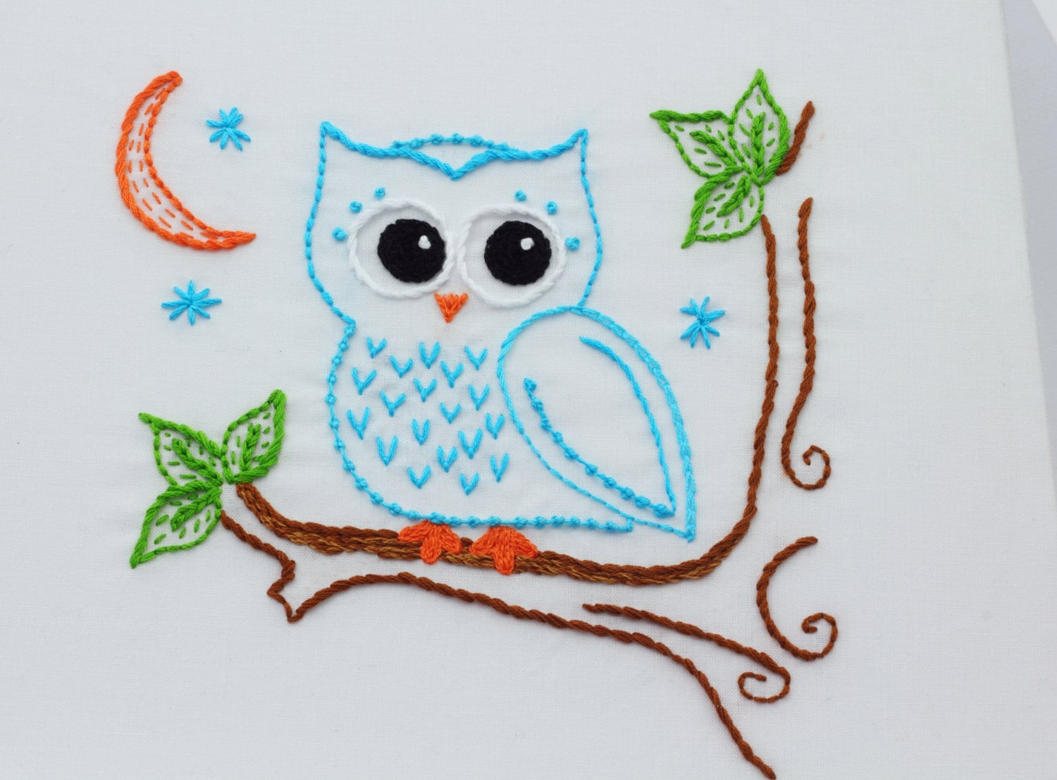 delightful Owl Embroidery Pattern Part - 1: Owl Embroidery Pattern Hand Embroidery Pattern Owls Owl Design | Etsy