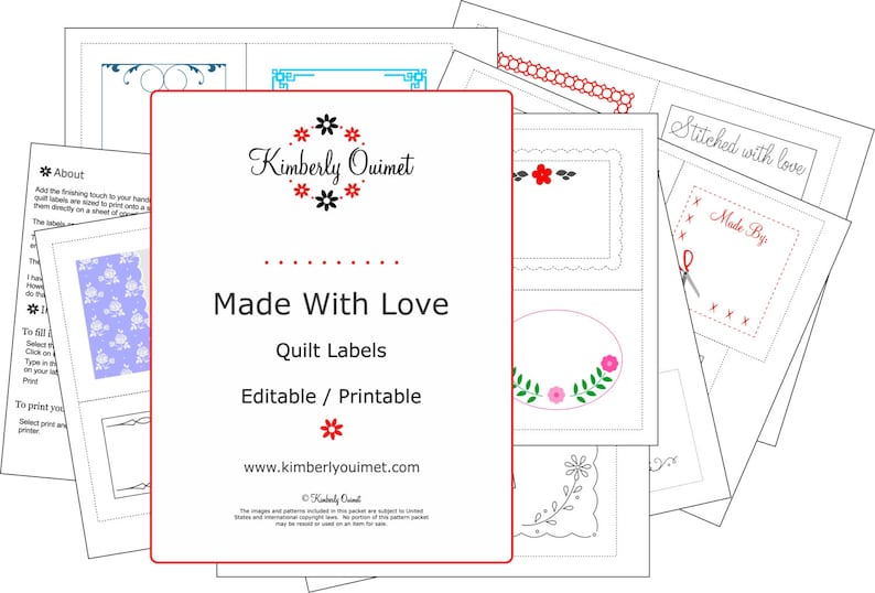 picture about Printable Quilt identified as Printable Quilt Labels Editable label Tailored Tag Custom made Quilt Label