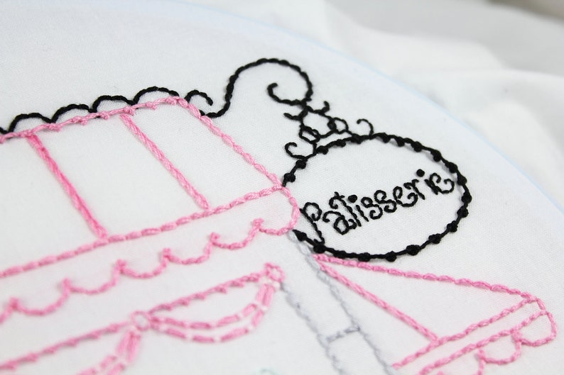 Hand Embroidery Patterns La Patisserie Embroidery Pattern image 0