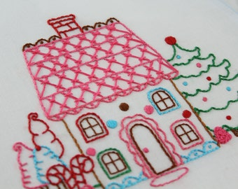 Gingerbread Embroidery Pattern Packet Gingerbread Man Gingerbread House