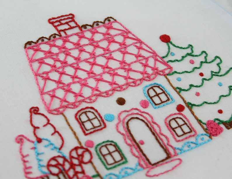 Gingerbread Embroidery Pattern Packet Gingerbread Man image 0