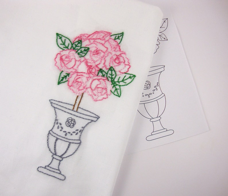 Rose Embroidery Design Rose Hand Embroidery Pattern image 0