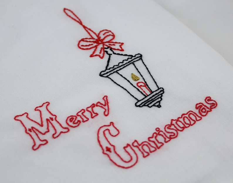 Christmas Embroidery Pattern Victorian Christmas Embroidery image 0