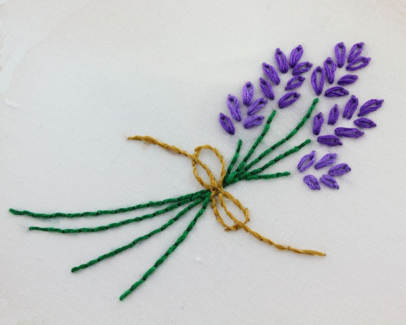 Herb Embroidery Design Herbs Hand Embroidery Pattern image 1