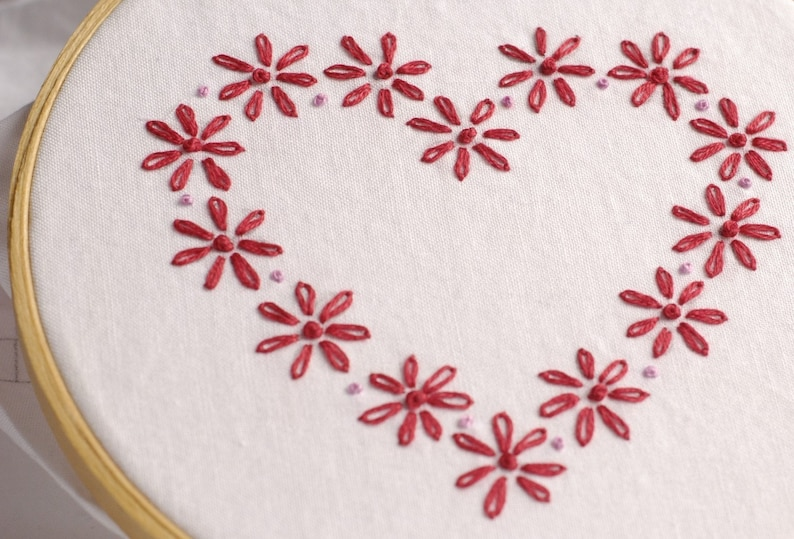 Valentine Embroidery Pattern Valentine embroidery design Be image 0