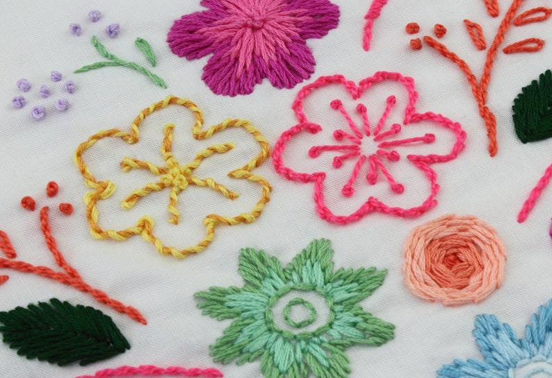 Flower Embroidery Design Flower Fancy Hand embroidery flowers image 0