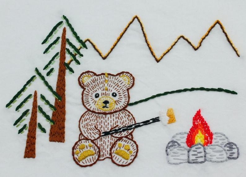 Teddy Bear Embroidery Design Bear Embroidery Pattern Teddy image 0
