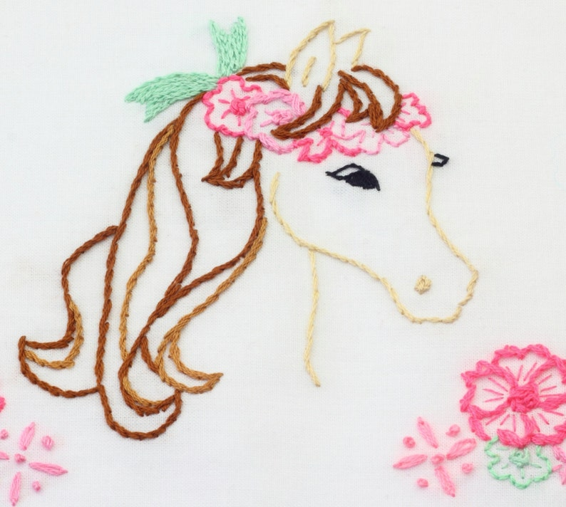 Horse Embroidery Pattern Horse Design Horse Embroidery Design image 0
