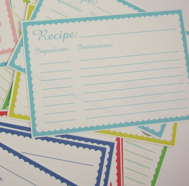 Printable recipe cards 3 x 5 | Etsy