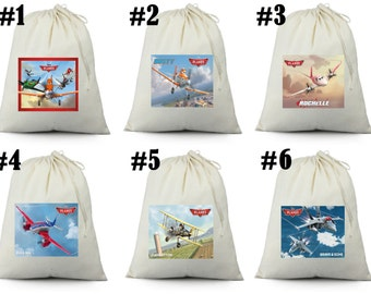 12 Disney Planes Birthday Party Favor Candy Loot Treat Drawstring Bags