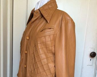 Vintage 70's Faux Leather Jacket