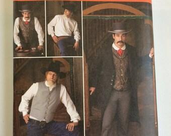 Simplicity Pattern 2895 Wild West Menswear Size AA (38-44)
