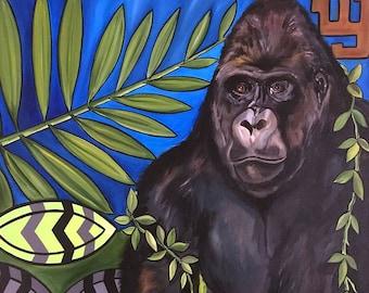 Lowland Gorilla by Melody Smith