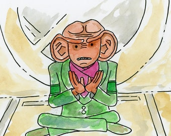 Quark saying goodbye to his brother - illustration inspired by Star Trek DS9