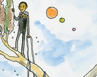 Collecting spores on Eliv III - illustration inspired by Star Trek Voyager