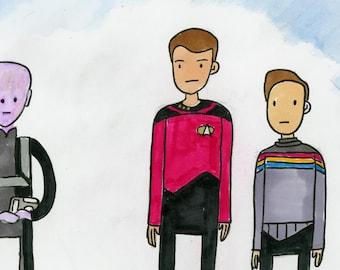 11001001 - illustration inspired by Star Trek TNG