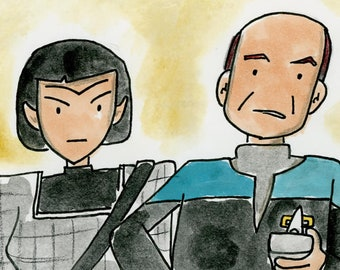 Message in a Bottle - illustration inspired by the episode of Star Trek Voyager
