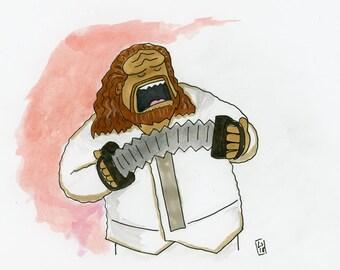 Chef Kaga - illustration inspired by Star Trek DS9