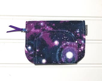 keychain wallet pastel galaxy key pouch cute zip id case galaxy lanyard with wallet