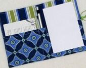 The Mini Shopper - Notepad Clutch - Whimsy Criss Cross