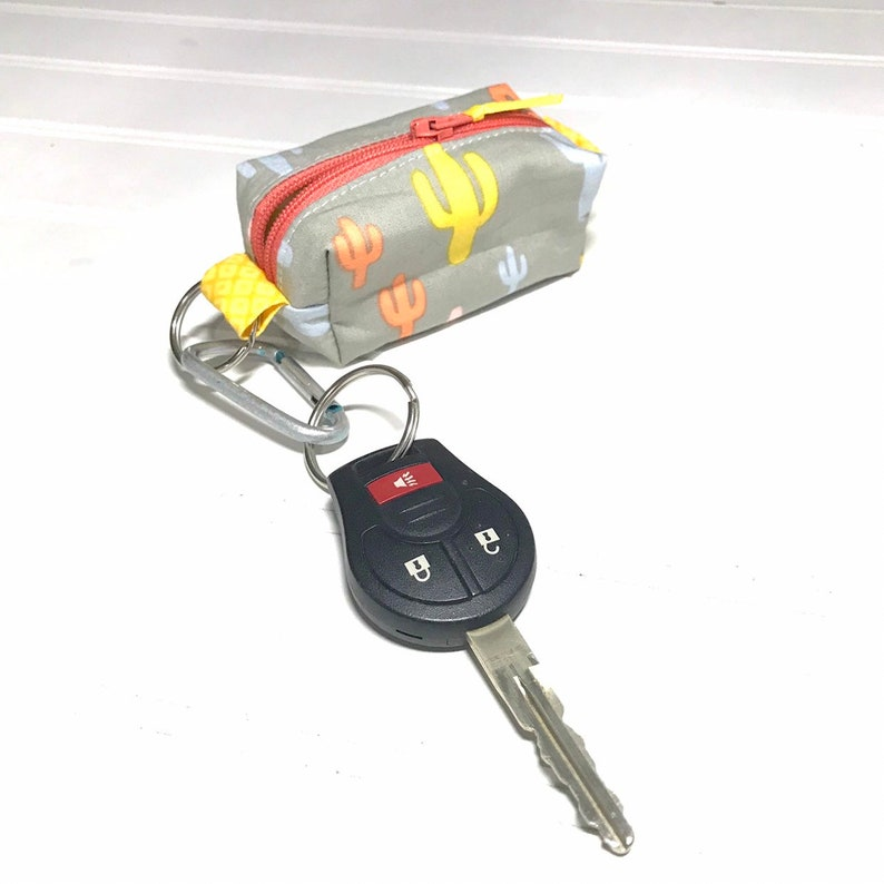 Earphones Key chain Earbud case Coin purse Key Holder Mini pouch Key pouch Box pouch Cactus gift Chap-stick holder key chain