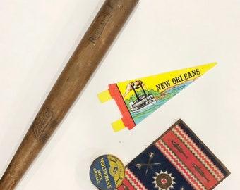 Flag Souvenir New Orleans Pendant Louisiana Gift Childhood Memory Vintage Pennant
