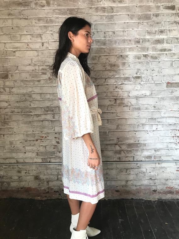 1970s cream ditsy floral prairie dress / 70s cali… - image 6