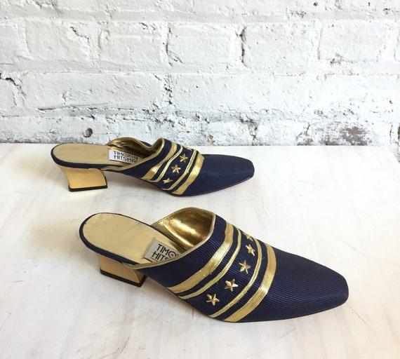 vintage 80s nautical mules / Timothy Hitsman stars