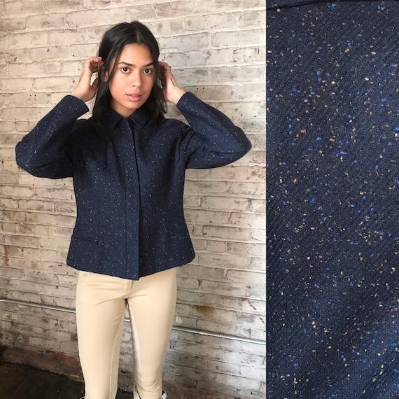 vintage Valentino wool jacket / round shoulder woo