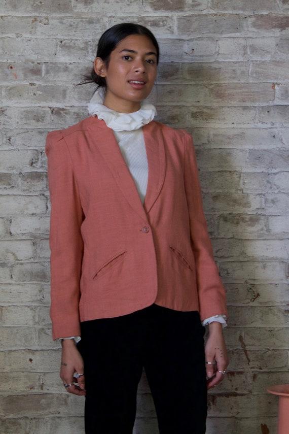 vintage dusty rose blazer / dusty pink jacket / 19