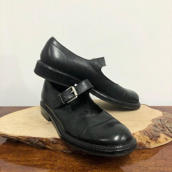 vintage Miu Miu shoes / 90s black leather mary jan
