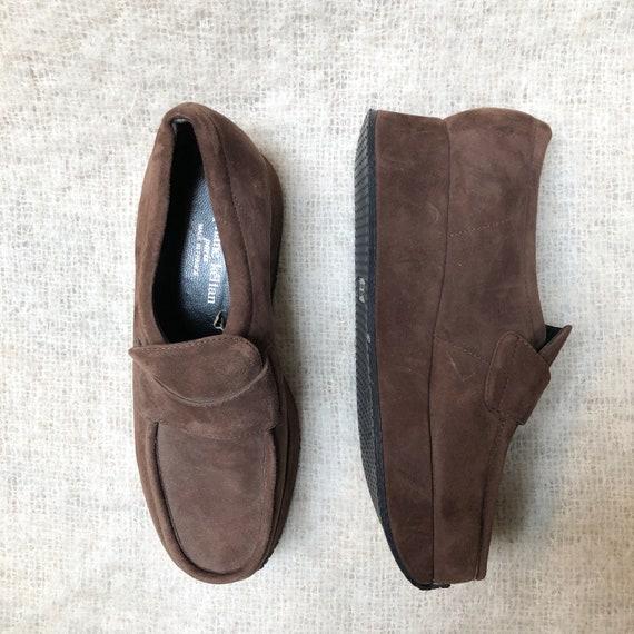 vintage Stephane Kelian brown suede platform loafe