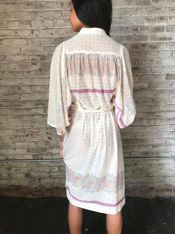 1970s cream ditsy floral prairie dress / 70s cali… - image 7