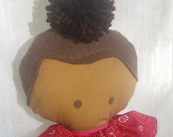 African American Rag Doll, Stuffed Baby Doll, Cloth doll, toys for kids - Black Owned Shop