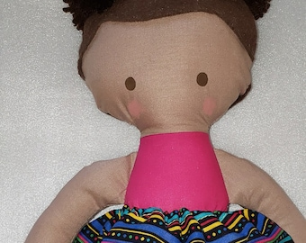 LOViE Beans Handcrafted African American Rag Doll - Black Owned Shop