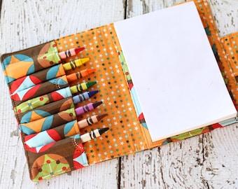 Crayon Wallet. Crayon Holder. Crayon Roll. Child Stocking Stuffer. Travel Toy. Quiet Book. Art Wallet. Drawing Kit. Crayon Case. Art Kit.
