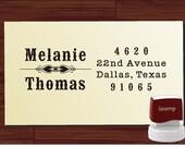 Custom Address Stamp Self Inking, Old Typewriter Return Address Stamp, Family Name Address Stamp (1293) by LoveToCreateStamps