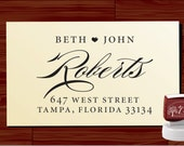 Custom address stamp - self - inking Return Address Rubber Stamp - STYLE 1130- Personalized wedding or christmas gift