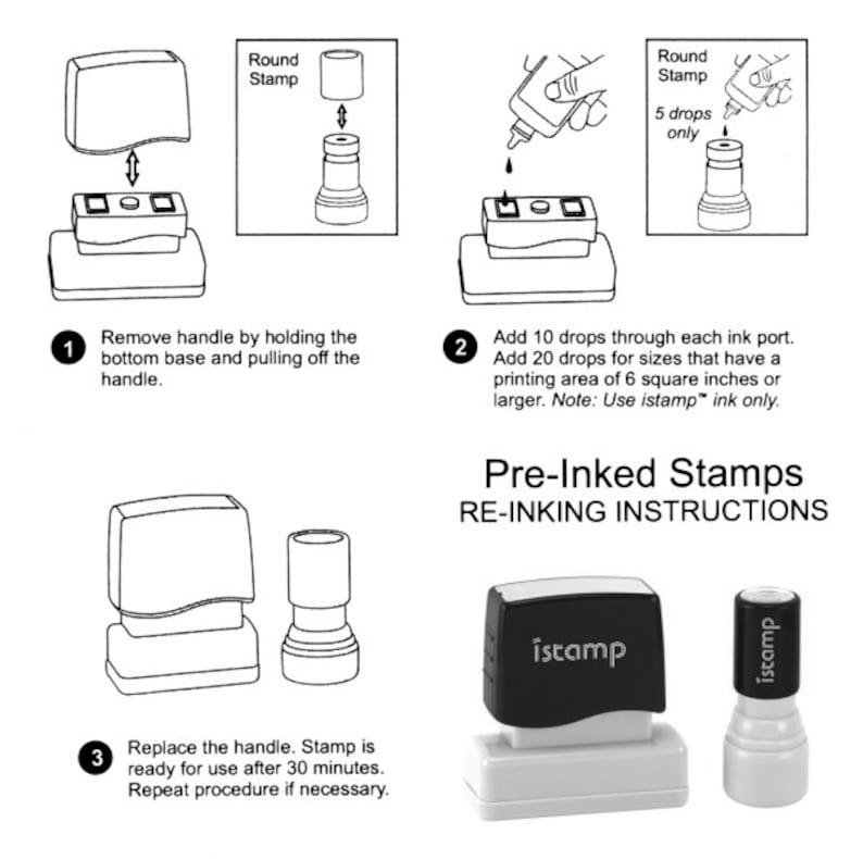 Calligraphy Handwriting Script Custom Return Address Stamp Style 1147 Personalized SELF INKING Wedding Stationery Stamper