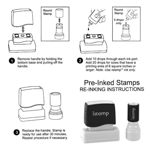 Style 1280YY Personalized Self Inking Wedding Stationery Stamper Calligraphy Handwriting Script Custom Return Address Stamp ON SALE