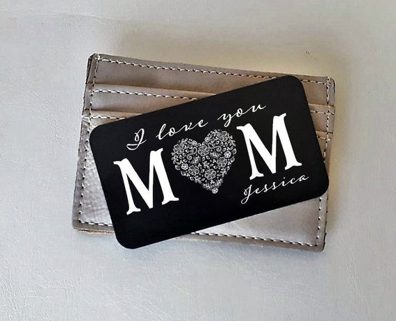 Mothers day personalised Sentimental metal purse insert