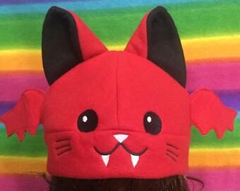 Vampire Cat Fleece Cap Hat Beanie Anime Cosplay
