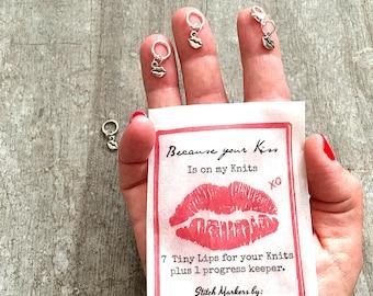 Lips stitch markers, snag free