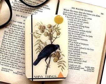 Crow tin, stitch marker tin