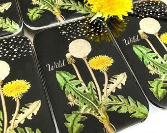 Dandelion stitch marker tin