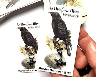 Crow Stitch Marker or progress keeper