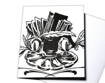 Just A Note Blank Letterpress Card