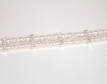 Swarovski Pearl Bridal Jewelry - Triple Strand Bracelet - Made to Order in Any Color
