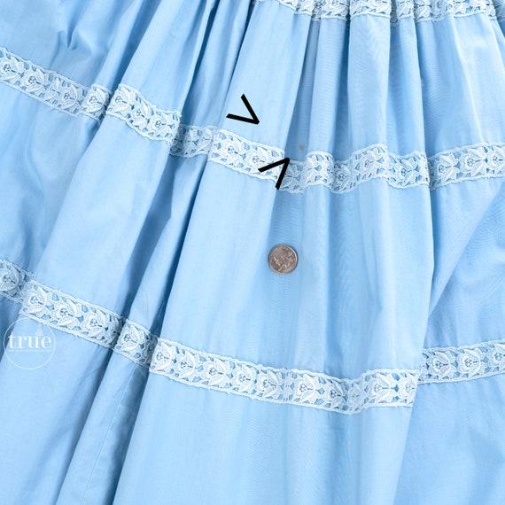 vintage 1950's dress ...pretty blue cotton Gigi Y… - image 6