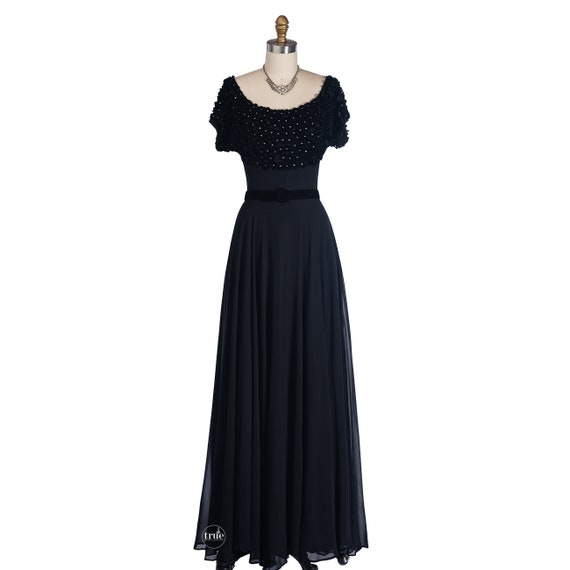 vintage 1940's dress ...old hollywood glamour Fran